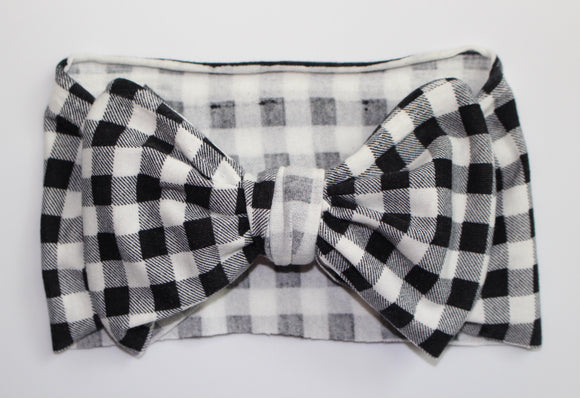 Plaid Big Bow