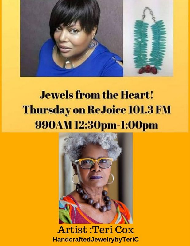 "REJOICE 101.3FM 990AM  ""JEWELS FROM THE HEART!"" 12:30-1:00PM"