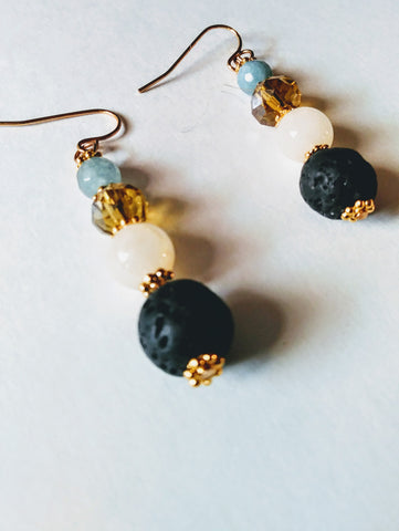 Lava & Apatite Earrings