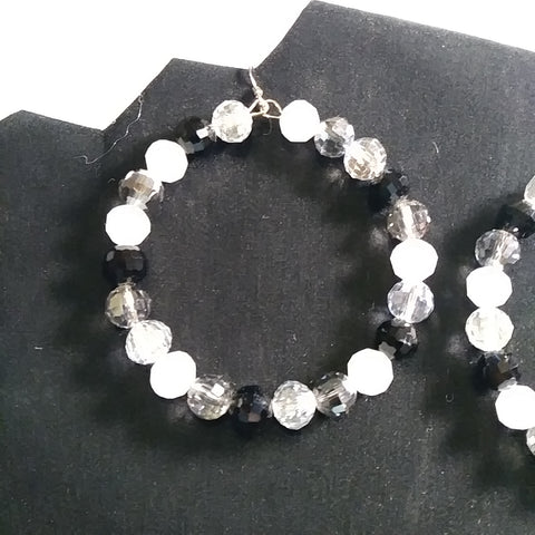 Black & White Crystal Earrings