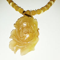Peony Carved Pendant Necklace - WATERBURY JEWELS
