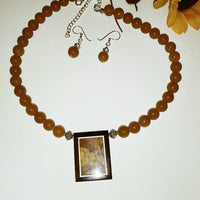 Intarsia Necklace & Earrings - WATERBURY JEWELS