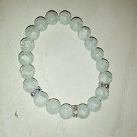 Prasolite - Cracked Quartz Bracelet