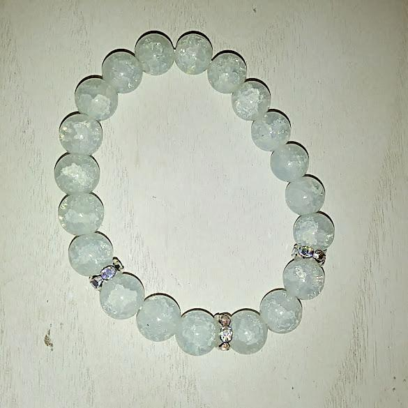 Prasolite - Cracked Quartz Bracelet - WATERBURY JEWELS