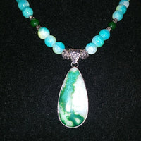 Esmeralda Drusy Necklace - WATERBURY JEWELS
