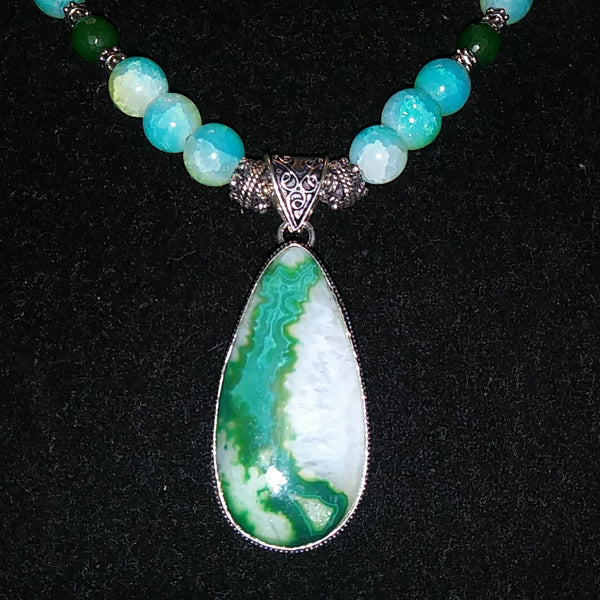Esmeralda Drusy Necklace