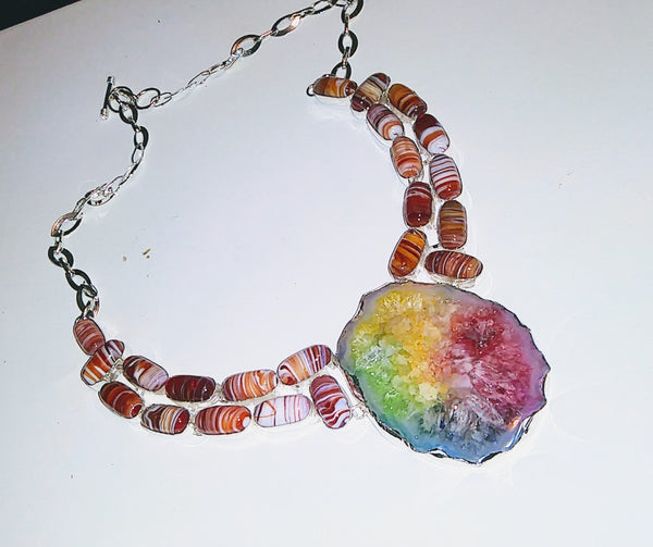 Rainbow Stalactites Necklace - WATERBURY JEWELS