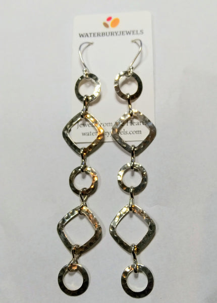 Circle & Square Earrings - WATERBURY JEWELS