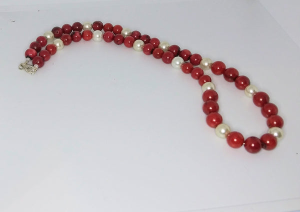 Coral & Pearl Necklace - WATERBURY JEWELS