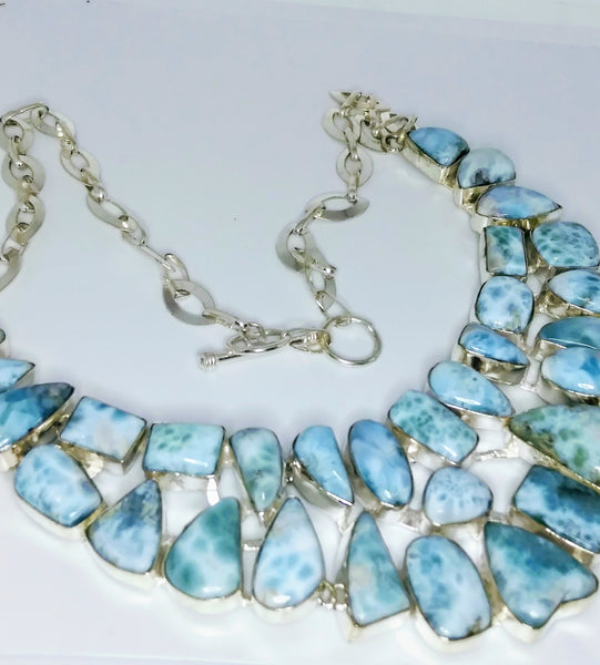 Larimar Necklace - WATERBURY JEWELS