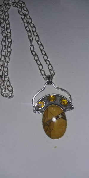 Mookite/Citrine Necklace