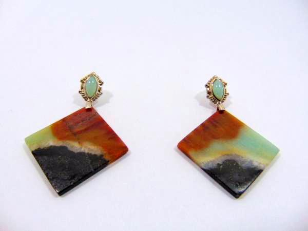 Amazonite Dangle Earrings - WATERBURY JEWELS