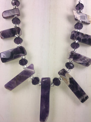 Natural Amethyst Necklace - WATERBURY JEWELS