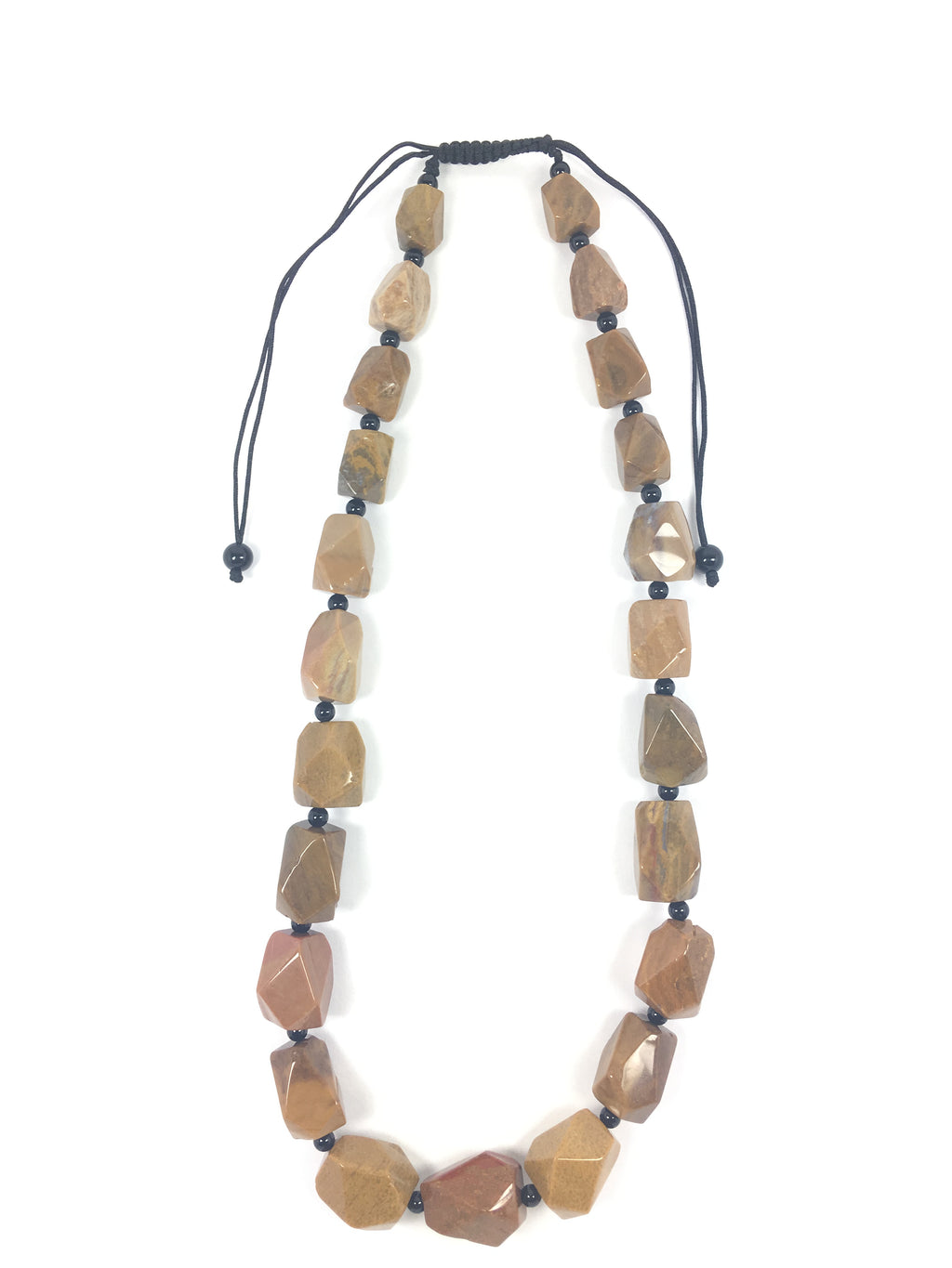 Jasper Macrame Necklace - WATERBURY JEWELS
