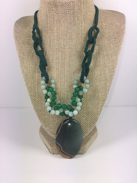 Succor Jasper Pendant Necklace #25 - WATERBURY JEWELS