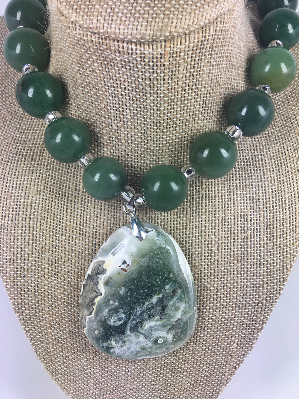 Aventurine Druzy Necklace - WATERBURY JEWELS