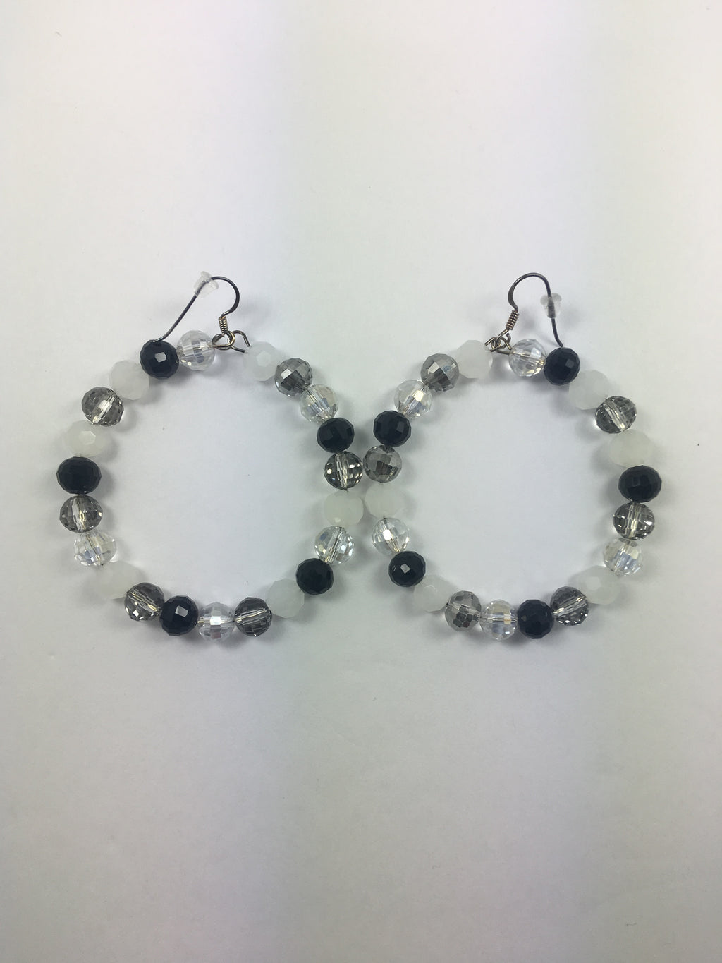 White/Black Earrings Hoops   Product 13 - WATERBURY JEWELS