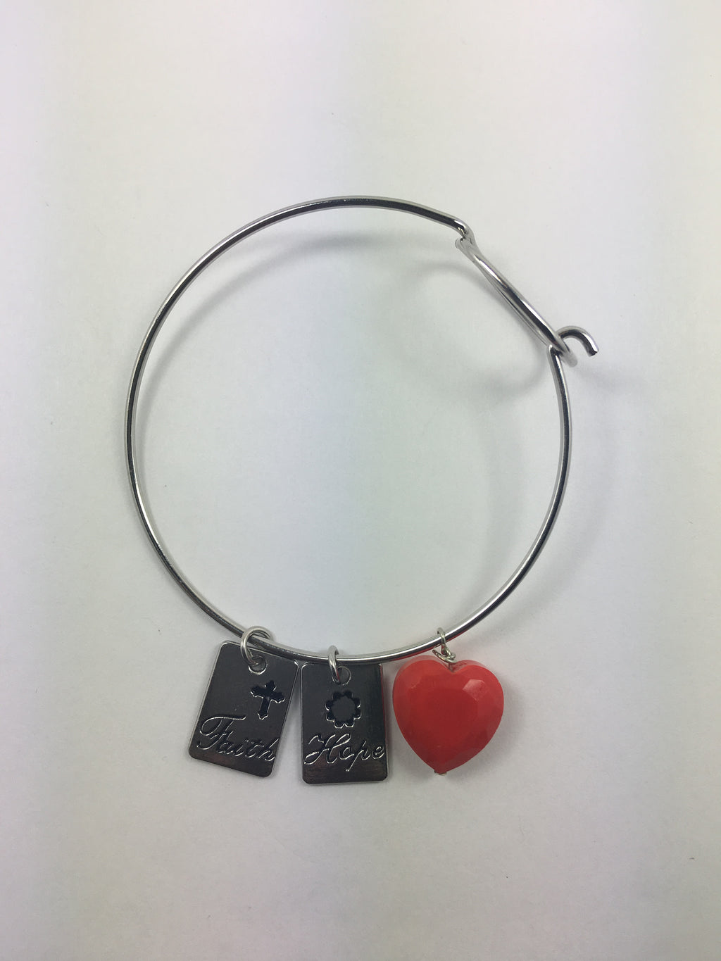 Faith/ Hope/ Love Bangle Bracelet - WATERBURY JEWELS