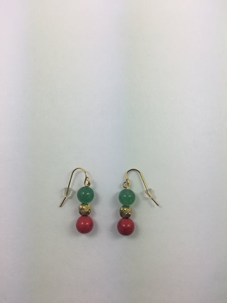 RED/BLACK/GREEN Earrings