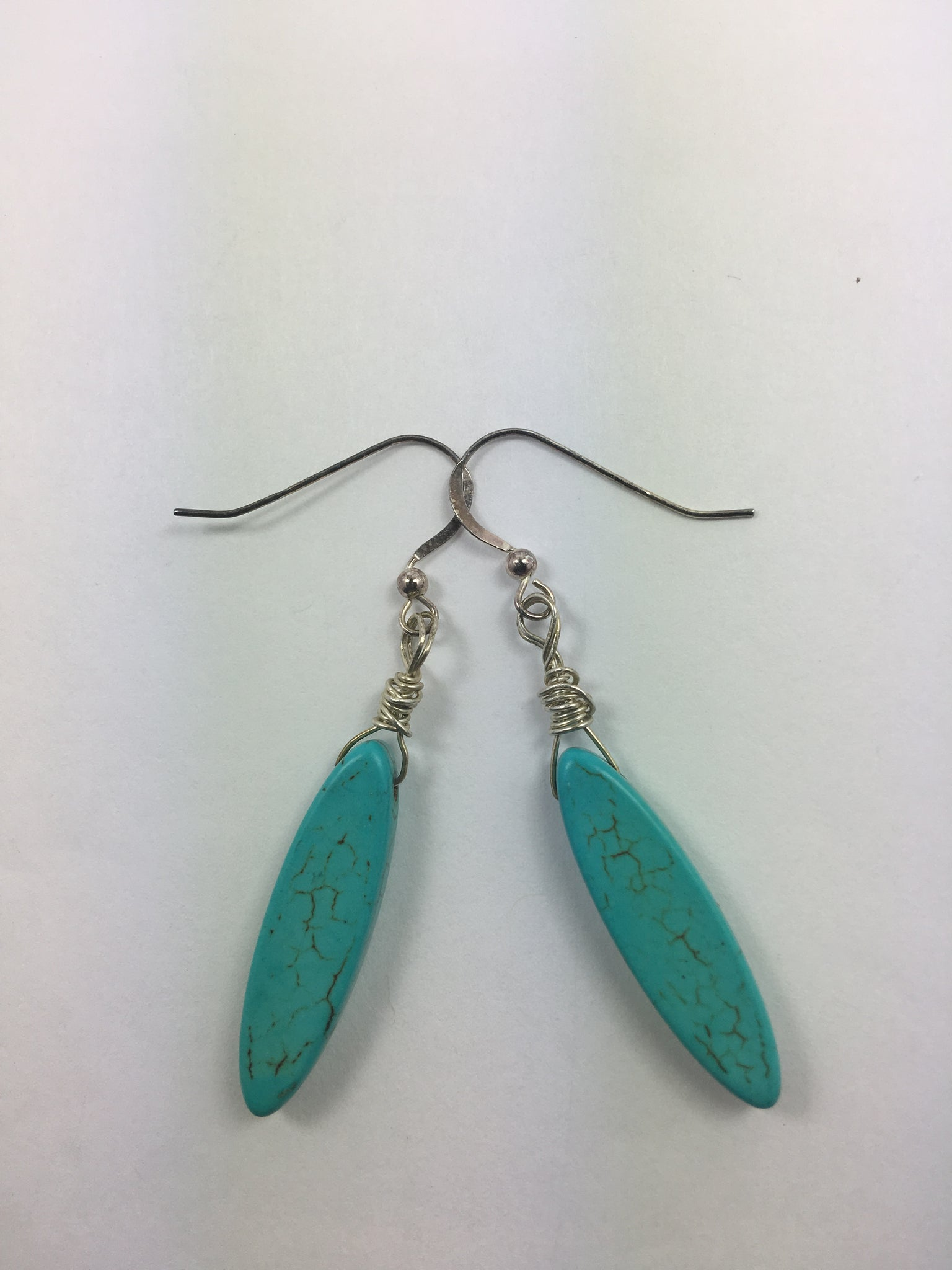 Magnestite Turquoise Earrings - WATERBURY JEWELS