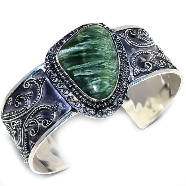 SERAPHINITE CUFF BRACELET - WATERBURY JEWELS