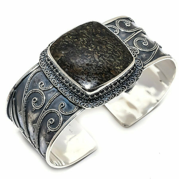 FOSSIL BONE GEMSTONE CUFF BRACELET - WATERBURY JEWELS