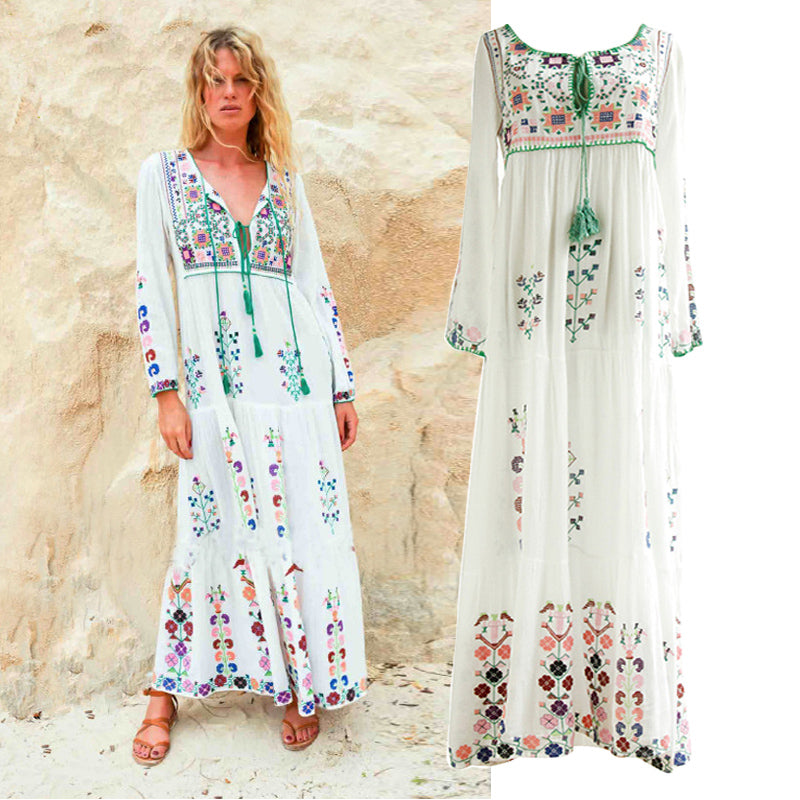 Long sleeve floral embroidered maxi dress 2 colors cascadia bohemian long sleeve floral embroidered maxi dress 2 colors mightylinksfo