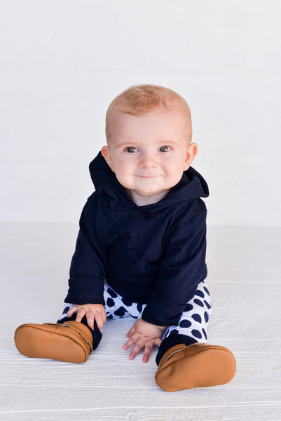 Grow-With-Me Leggings - Navy Stripe