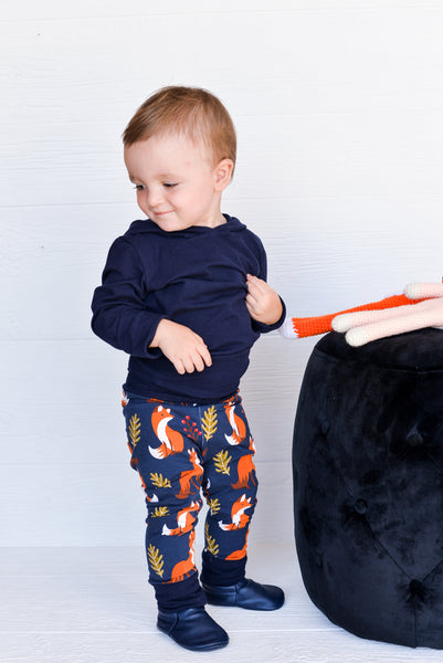 Grow-With-Me Leggings - Blue Fox