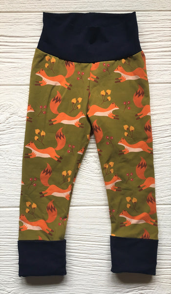 Grow-With-Me Leggings - Green Fox
