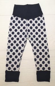 Grow-With-Me Leggings - Navy Dot