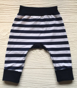 Grow-With-Me Harems - Navy Stripe