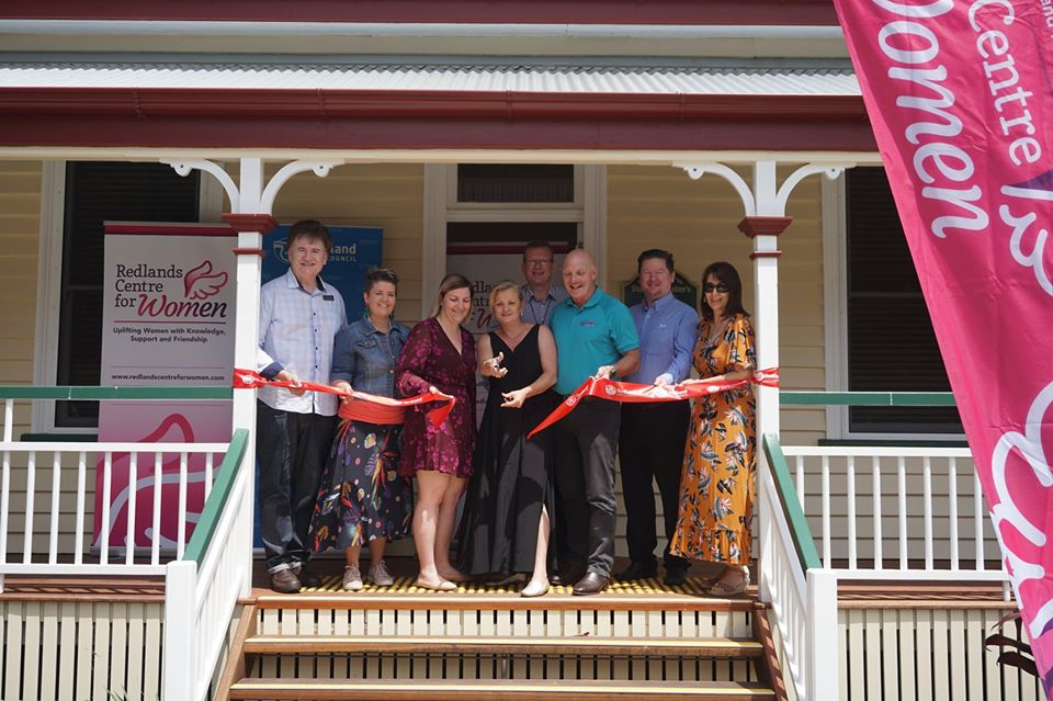 Redlands Centre for Women cutting the ribbon