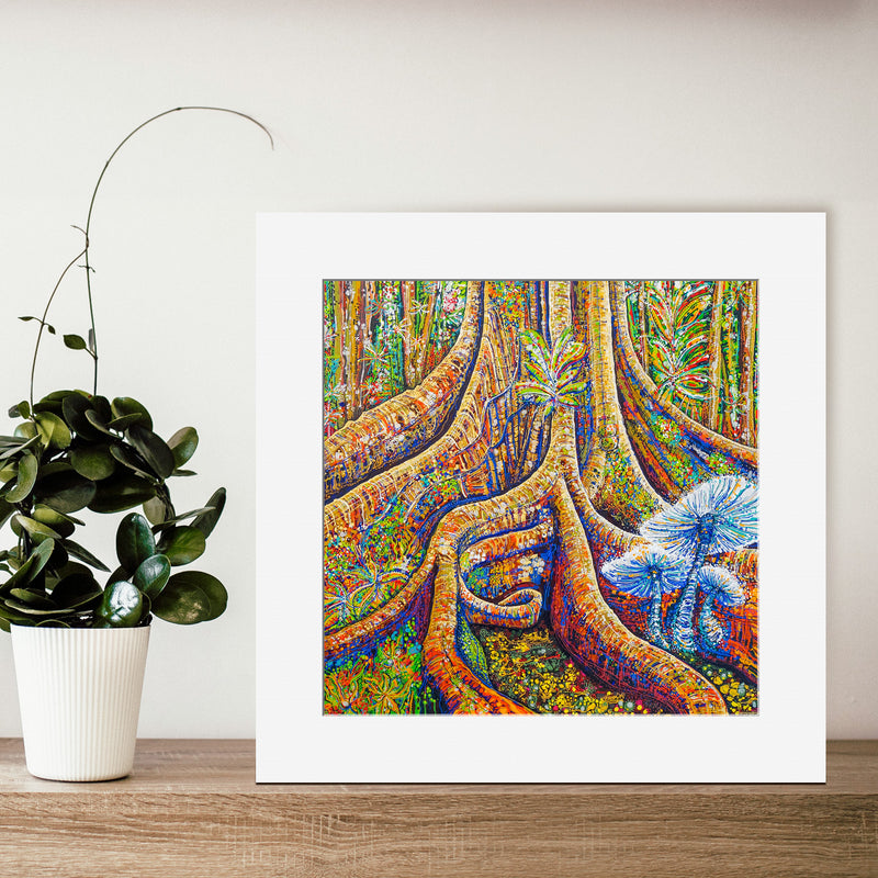 'Buttress Roots' 30cm x 30cm OPEN-EDITION Print