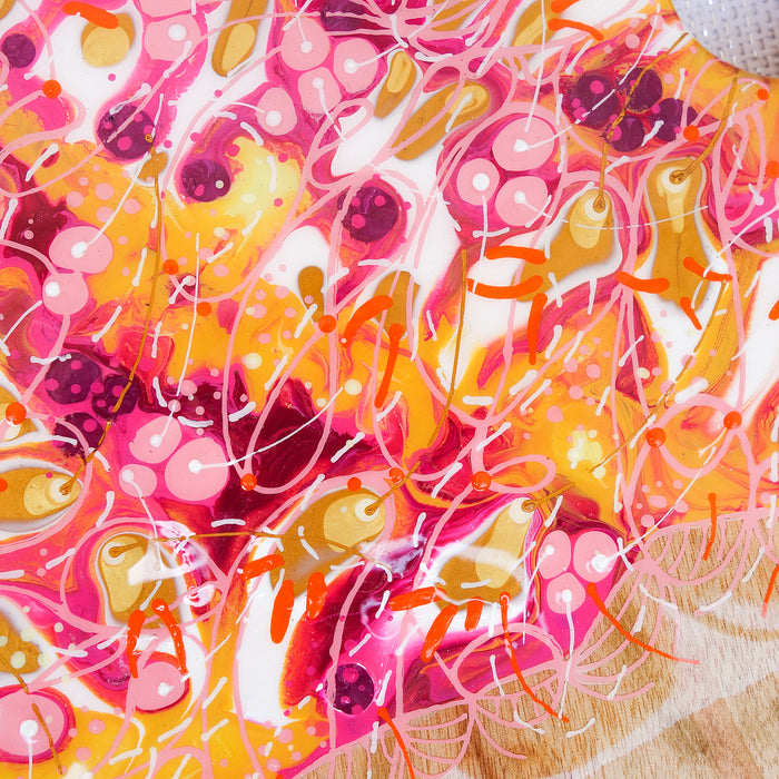 Pink Orange Yellow Explosion Cheese Board
