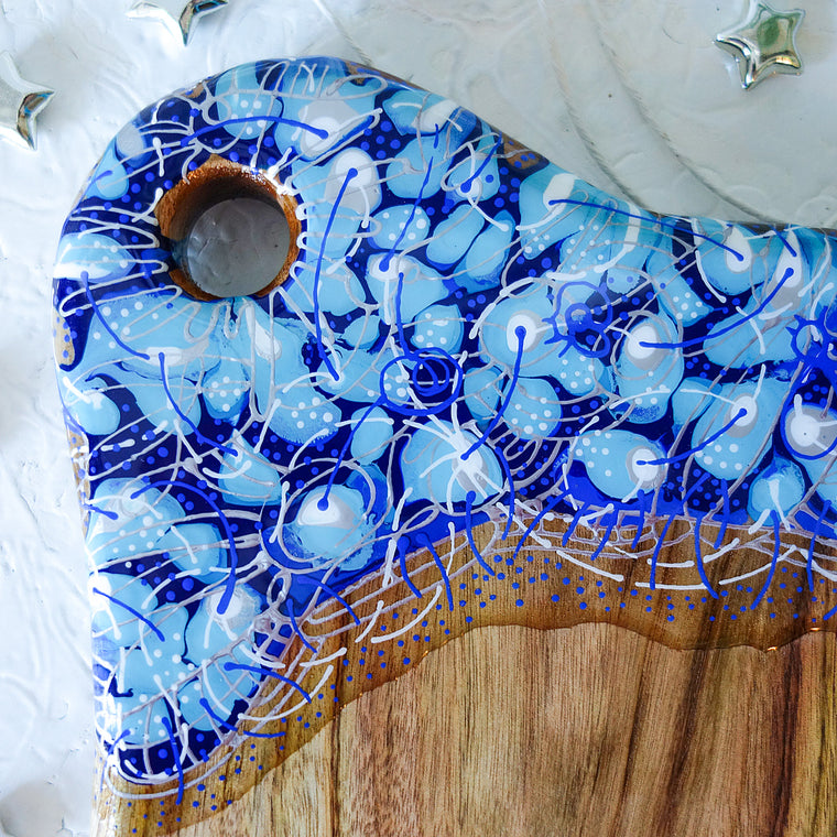 Blue Silver String Cheese Board