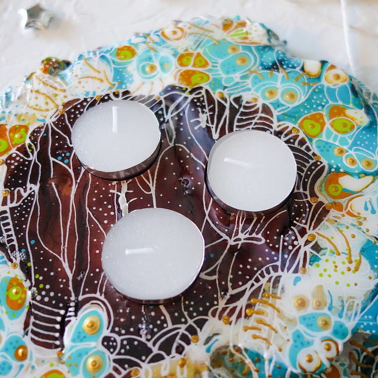 Colourful Mountain Tea Light Candle Holder
