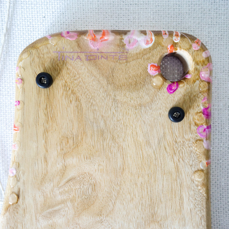 Pink Swirls Cheese Board