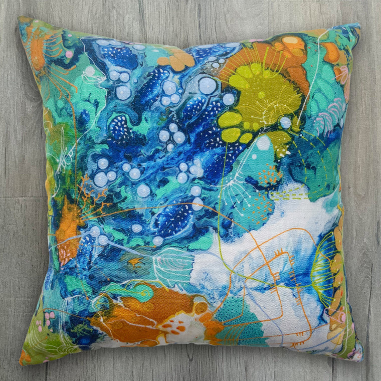 Earth and Sea Luxurious Linen-Feel Cushion