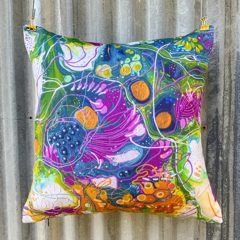 Under the Sea Luxurious Linen-Feel Cushion