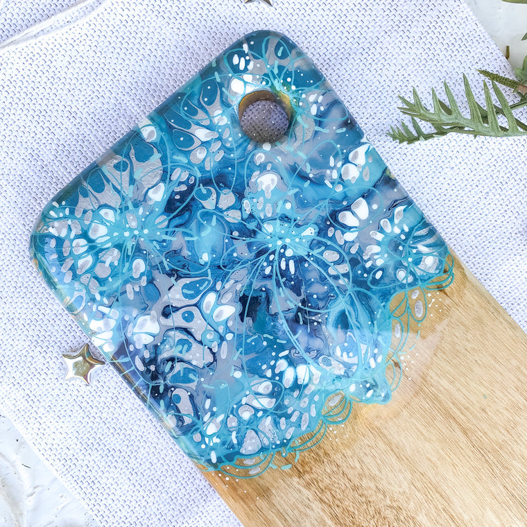 Blue Grey Shimmer Cheese Board