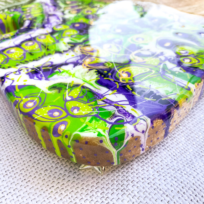 Purple Green Disco Cheese Board