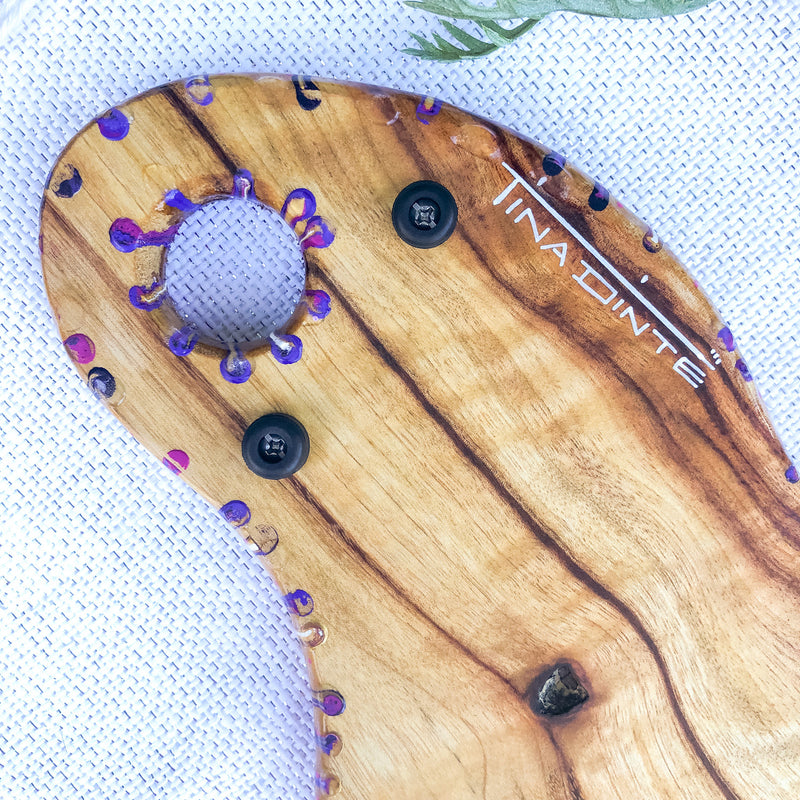 Magenta Purple Hooks Cheese Board