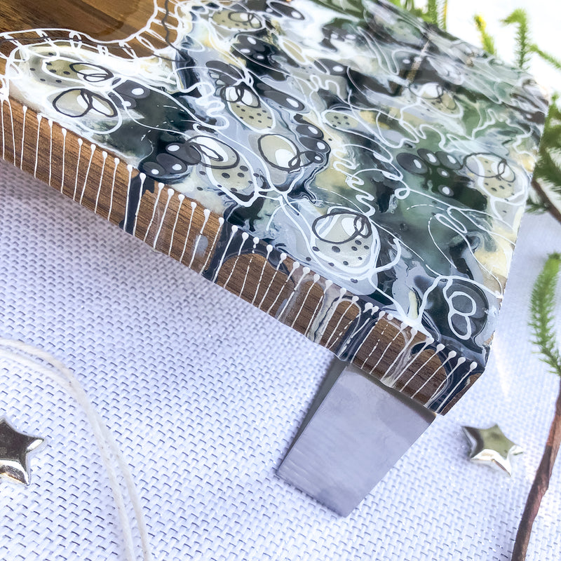 Inky Swirls Cheese Board/Table Centrepiece