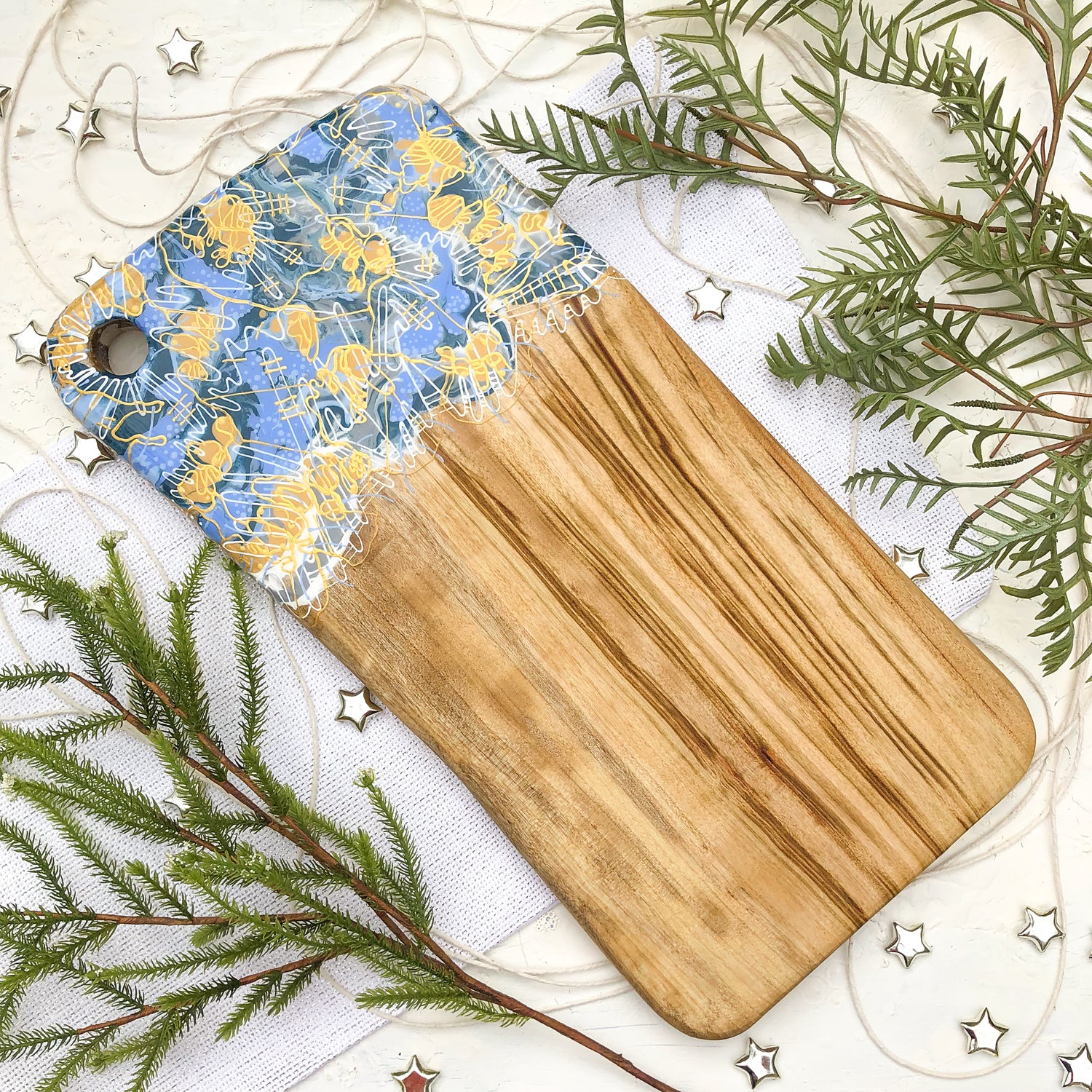 French Blue Strobe Cheese Board