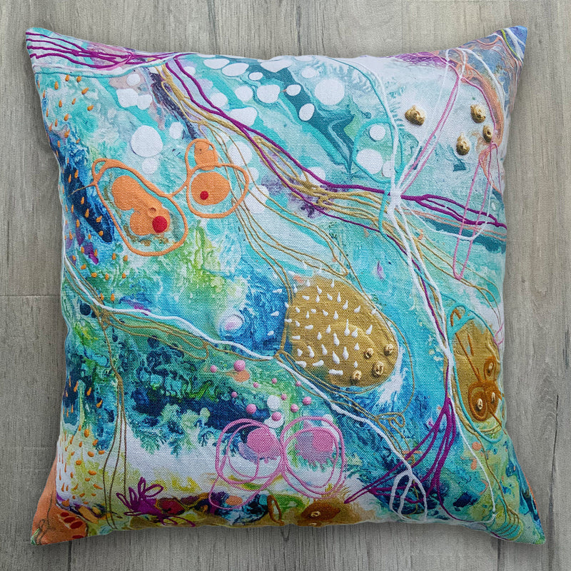 Pastel Dreams Luxurious Linen-Feel Cushion