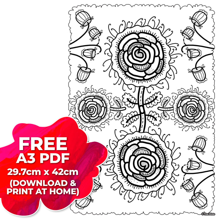 "Floral Pattern ""FREE"" Digital Download"