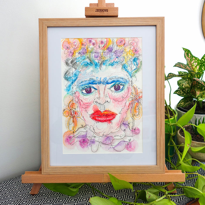 Frida Original Framed Illustration