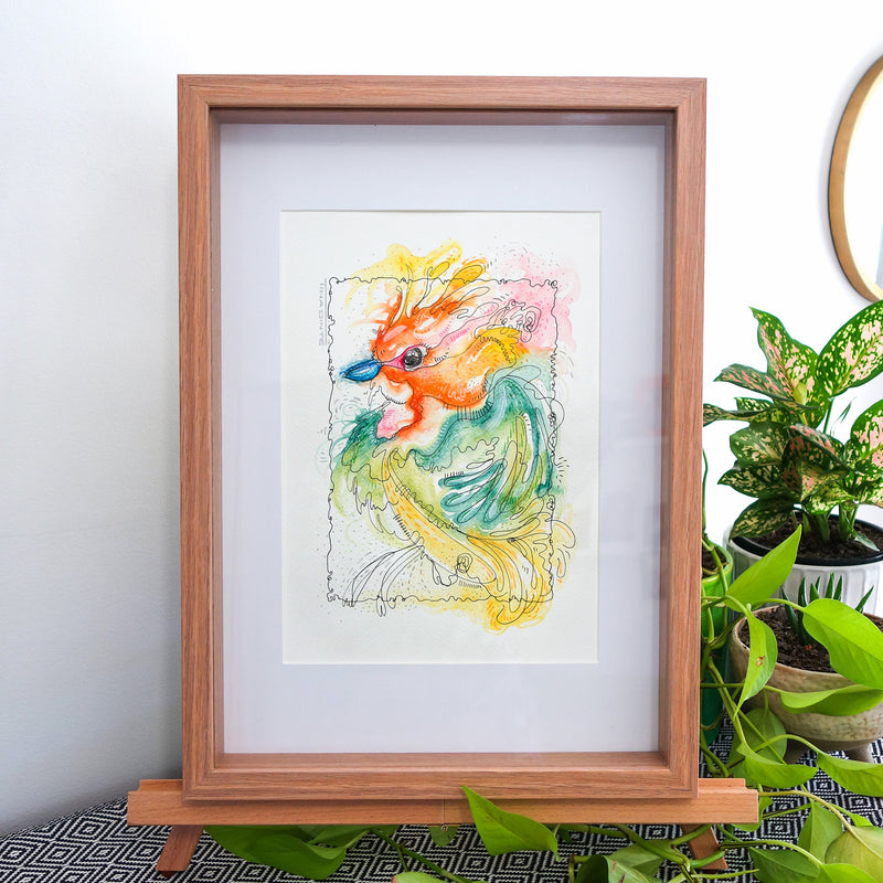 Susie Sparrow Framed Original Illustration