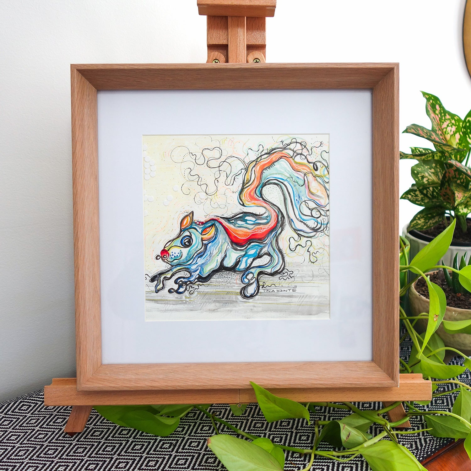 Sam Squirrel Framed Original Illustration